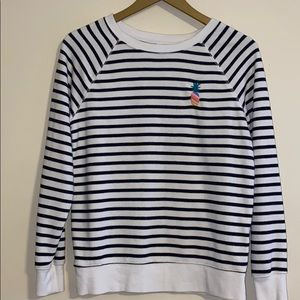 Old navy striped sweater with pineapple accent